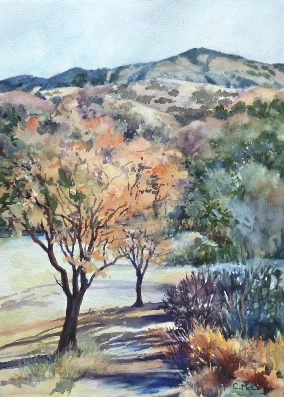 Mount Diablo, Sugarloaf View, Original Painting - Art by Catherine McCargar