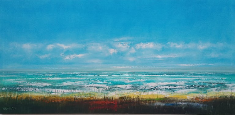 The Shoreline, Oil Painting - Art by George Peebles