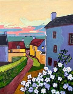 Seaside Village, Oil Painting