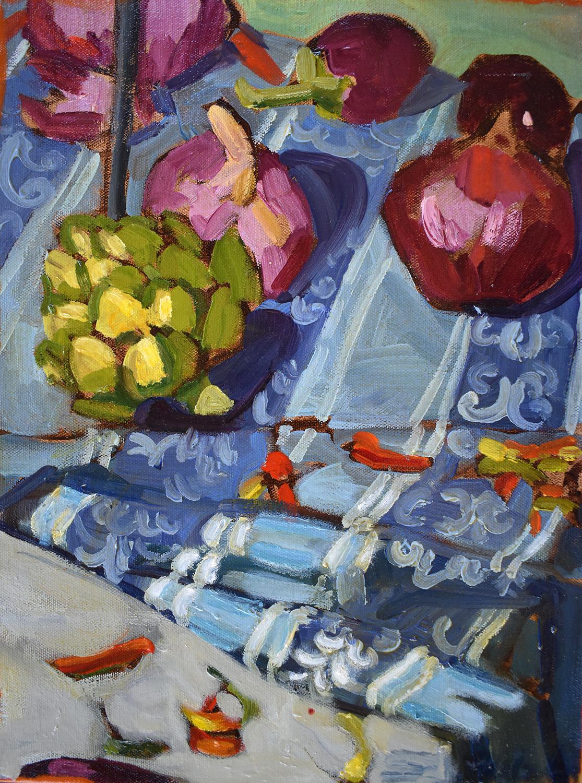 Mediterranean Kitchen, Oil Painting