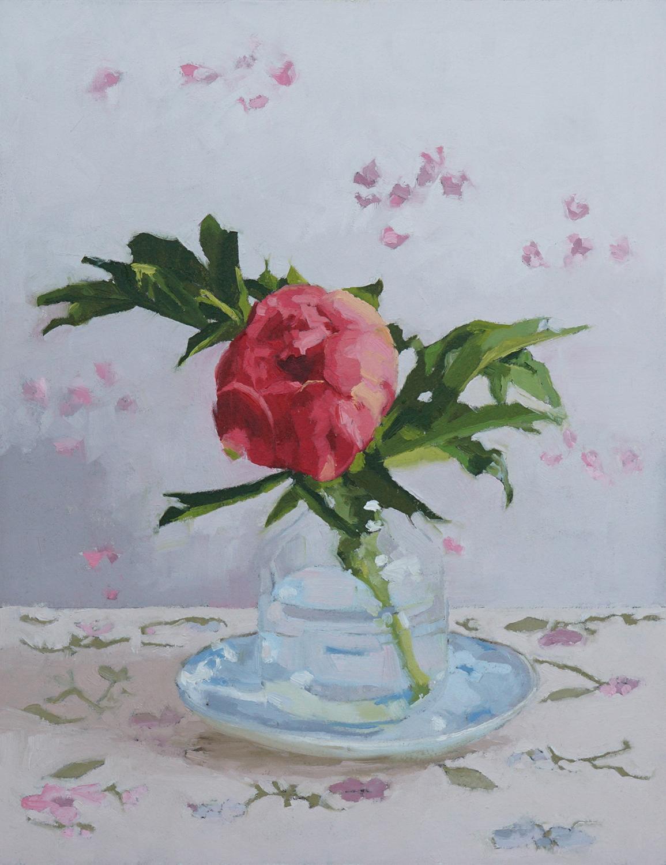 Peony I, Oil Painting