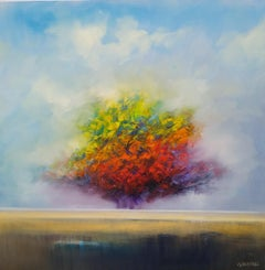 Autumn's Beautiful Day, Oil Painting