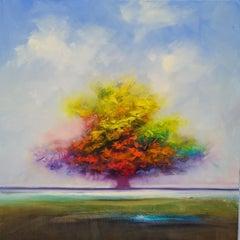 Maple Lane, Oil Painting