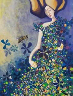 The Walk in the Field of Flowers, Original Painting