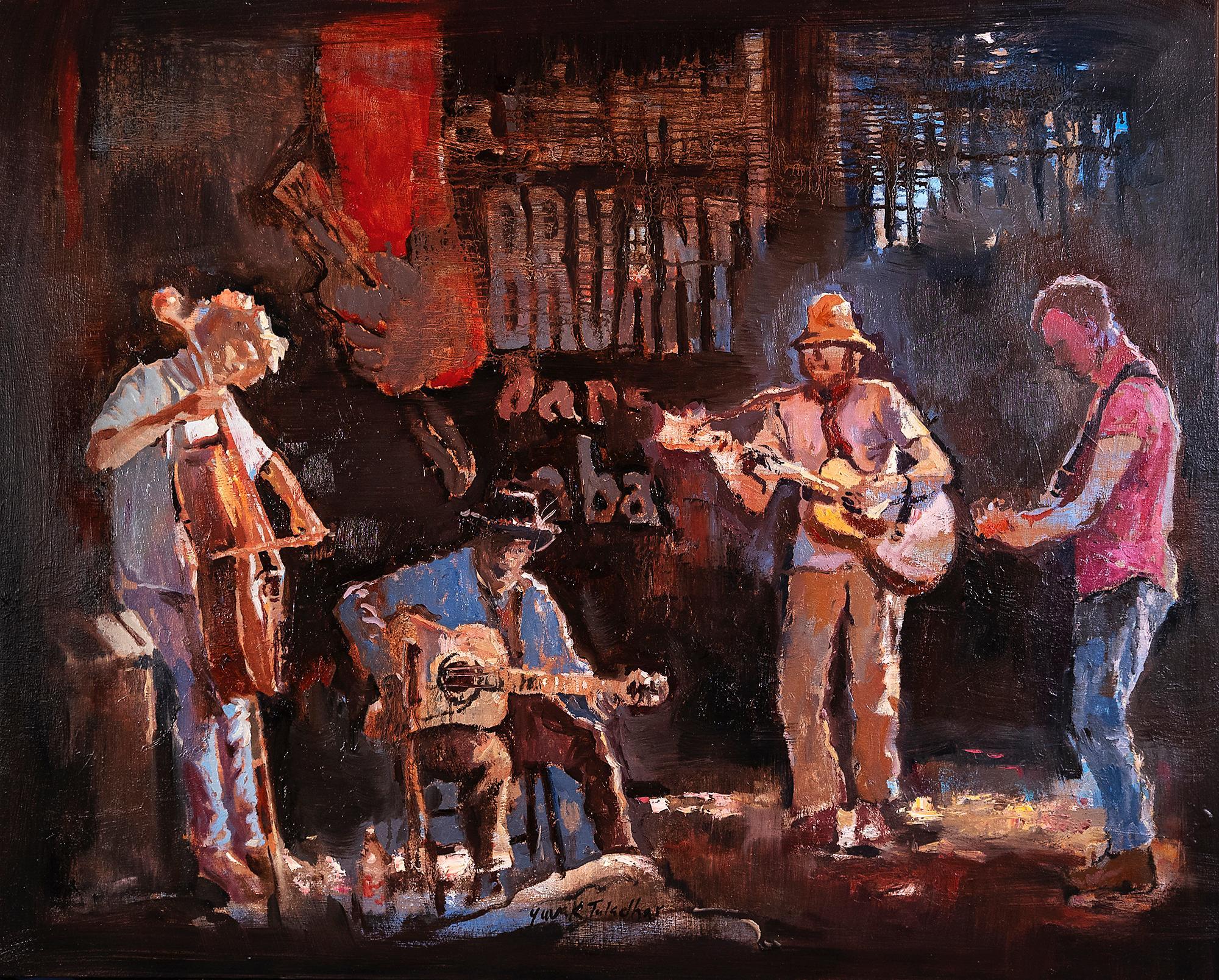 Spontaneous Jamming, Oil Painting