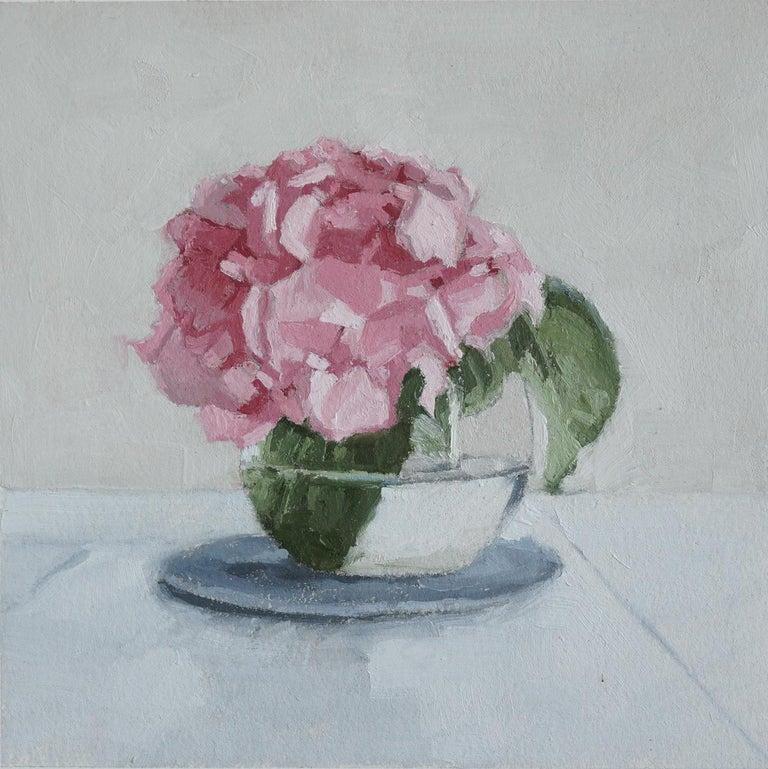 Hydrangea in Bloom, Oil Painting - Art by Nicole Lamothe