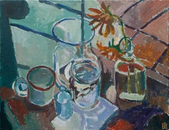 Still Life with Sunflowers, Original Painting
