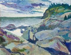 Monhegan Coastline, Original Painting