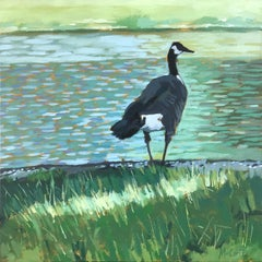 Gray Goose, Oil Painting