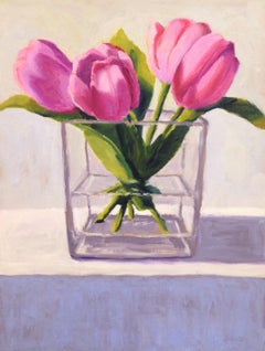 Pink Tulips, Oil Painting