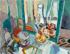 Still Life with Mirror, Original Painting