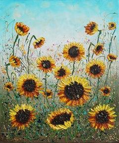 Sunflowers Joy, Original Painting