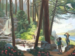 The Rhododendron Trail, Oil Painting