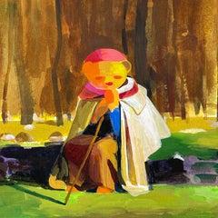 A Traveler's Break, Original Painting