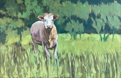 One Cow, Oil Painting