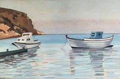 Two Boats, Oil Painting