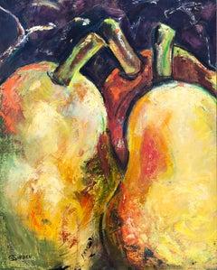 Three Pears, Oil Painting