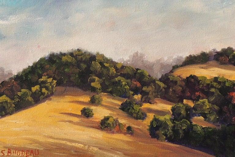 Gentle Hills - Brown Landscape Painting by Steven Guy Bilodeau