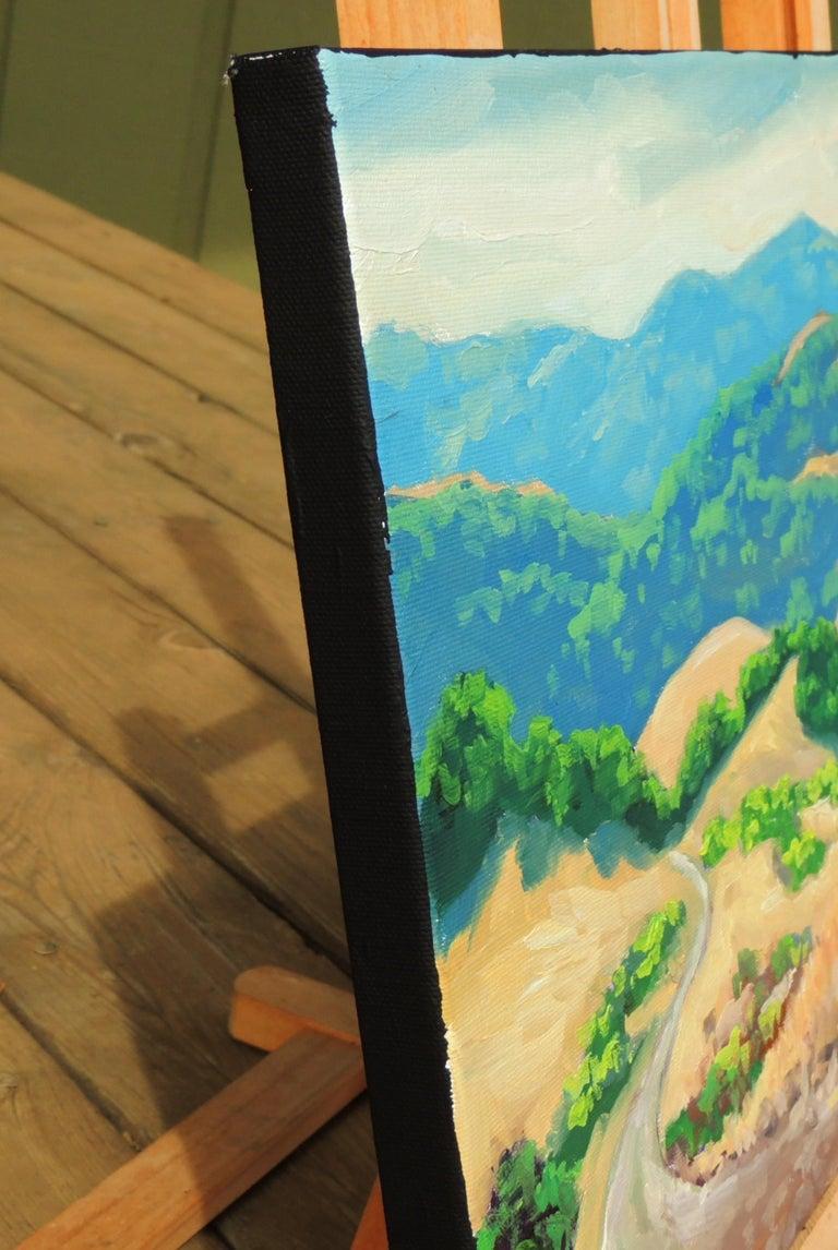 Las Trampas Ridge - Abstract Impressionist Art by Steven Guy Bilodeau
