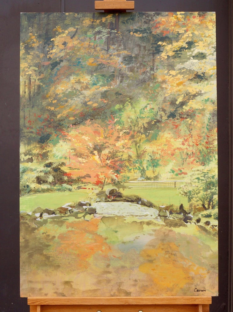 Fall Garden - Abstract Impressionist Art by Sidonie Caron