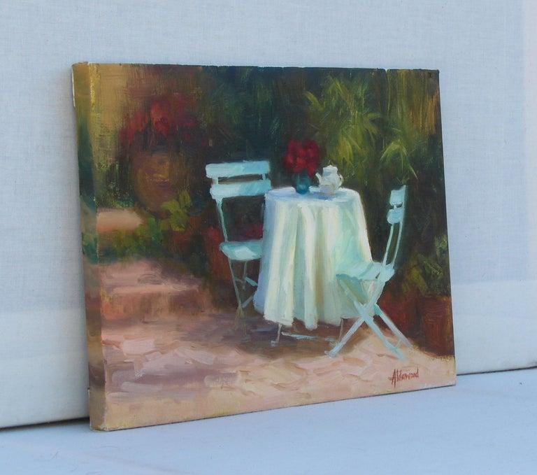 Garden Tea - Painting by Sherri Aldawood