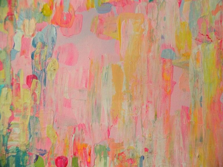 Rain or Shine  - Beige Abstract Painting by Natasha Tayles