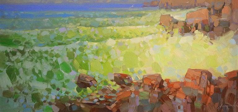 Emerald Ocean - Painting by Vahe Yeremyan