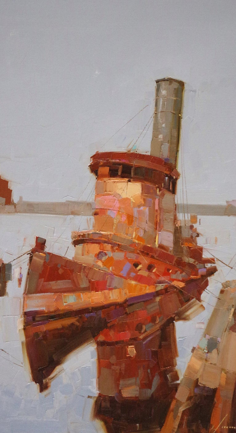 The Tug - Abstract Impressionist Art by Vahe Yeremyan