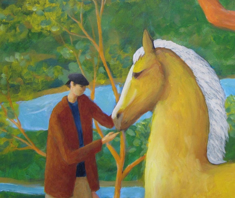 Surreal Horse Painting, Palomino Tree For Sale 1