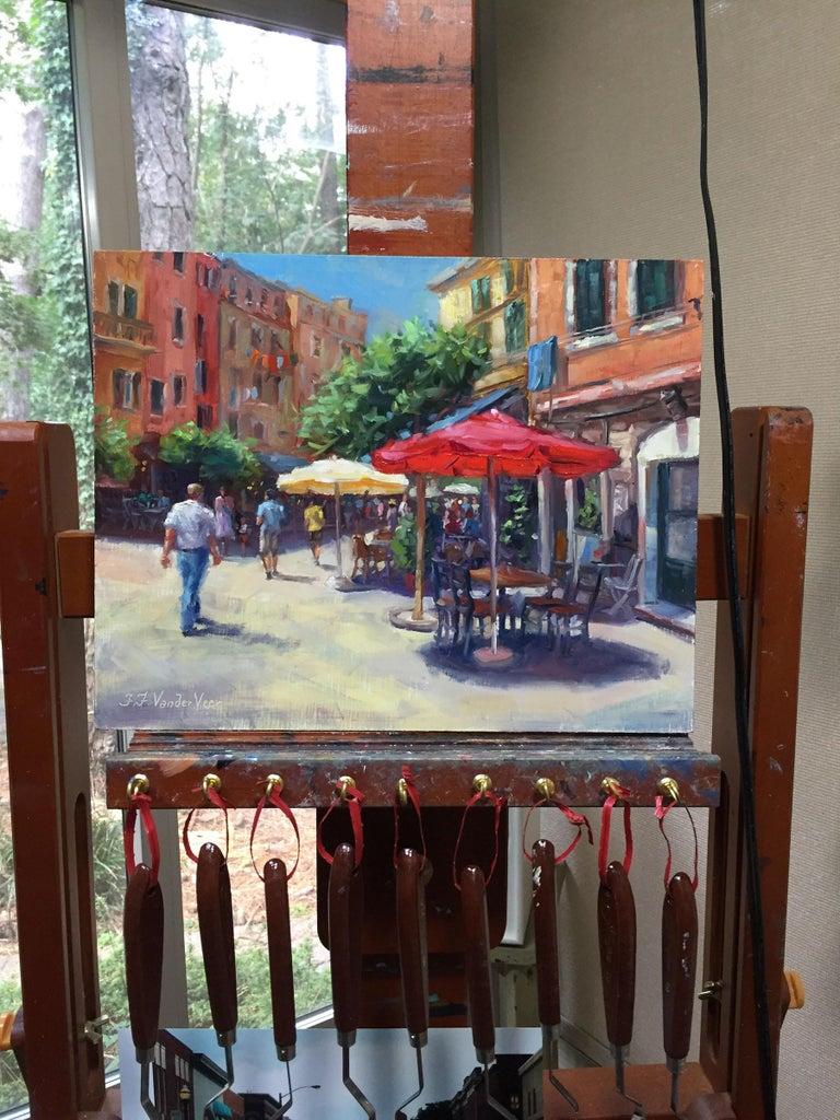 Summer in Vernazza - Painting by Faye Vander Veer