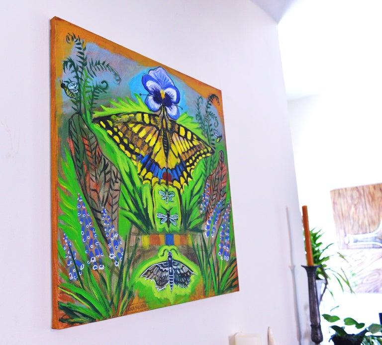 Inside the Garden - Painting by Kira Yustak