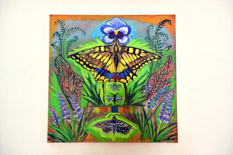 Inside the Garden - Street Art Painting by Kira Yustak