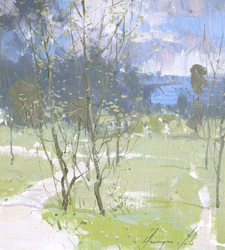 Stillness Watching - Abstract Impressionist Art by Vahe Yeremyan