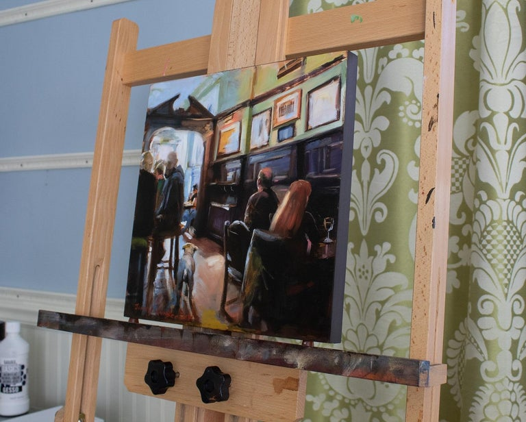 <p>Artist Comments<br>Visitors to this pub in Edinburgh, Scotland are greeted by a friendly Pitt Bull. The painting is on cradled masonite board. The 1 edges are painted raw umber and it comes ready to hang.</p><p>About the Artist<br>Although