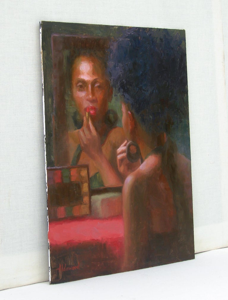 The Face in the Mirror - Abstract Impressionist Art by Sherri Aldawood