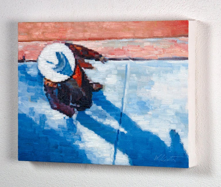Cowgirl on Canyon Road - Abstract Impressionist Art by Warren Keating