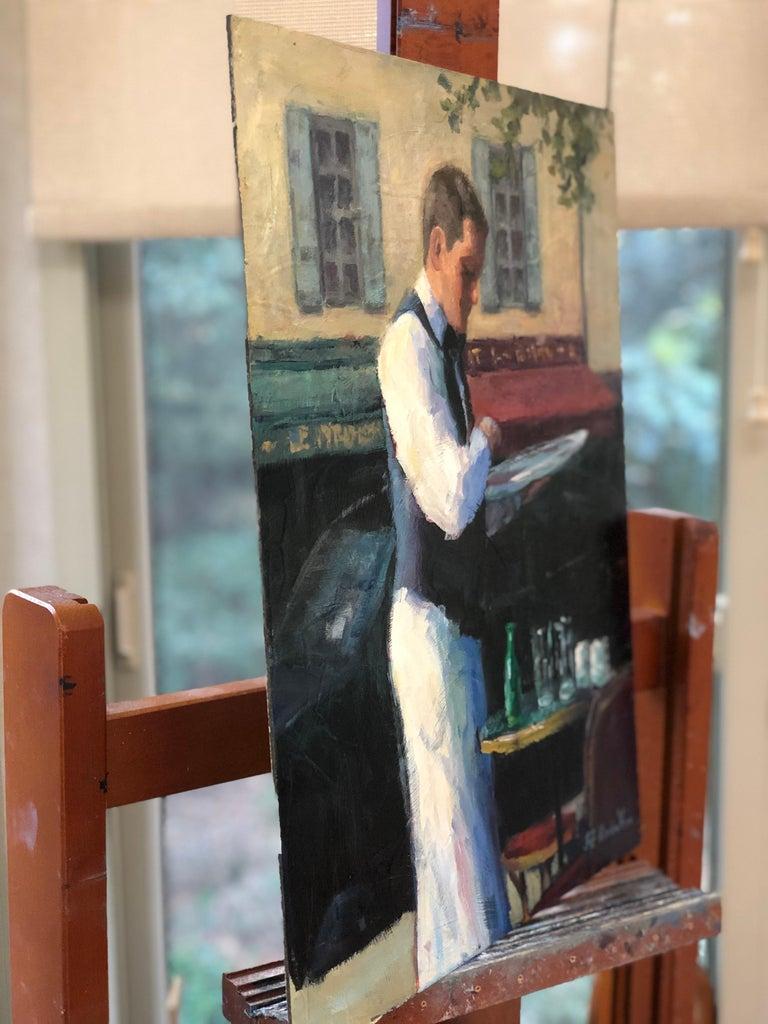 Le Serveur (Paris) - Abstract Impressionist Art by Faye Vander Veer