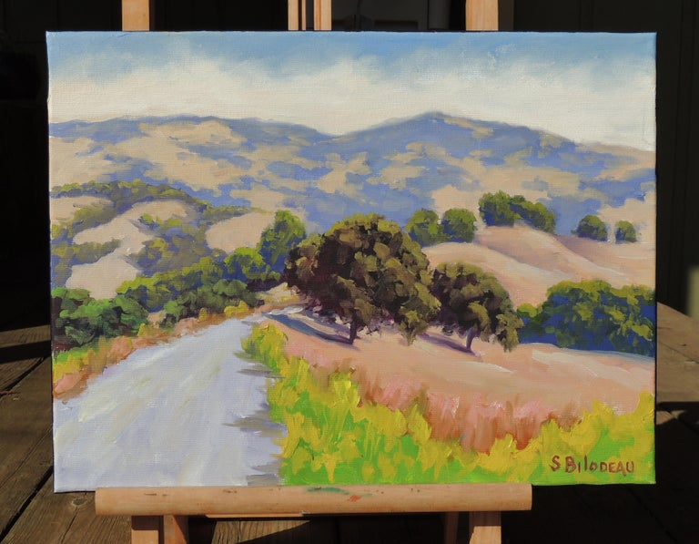 Mulholland Ridge Open Space - Abstract Impressionist Painting by Steven Guy Bilodeau