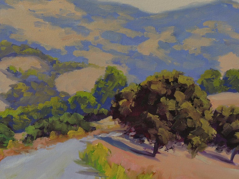 Mulholland Ridge Open Space - Gray Landscape Painting by Steven Guy Bilodeau