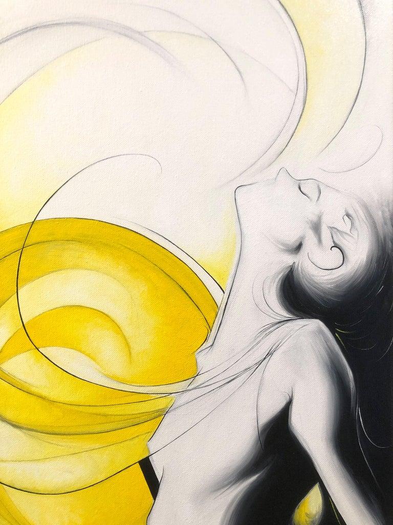 Sun Goddess - Yellow Figurative Painting by Sumner Crenshaw