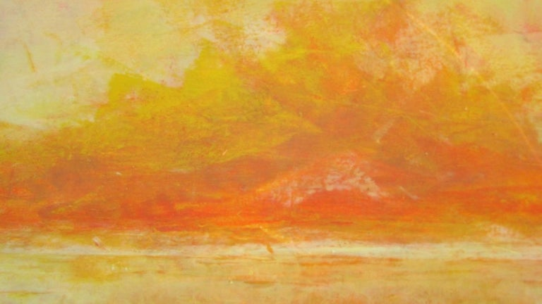 Yellow - Abstract Painting by Valerie Berkely