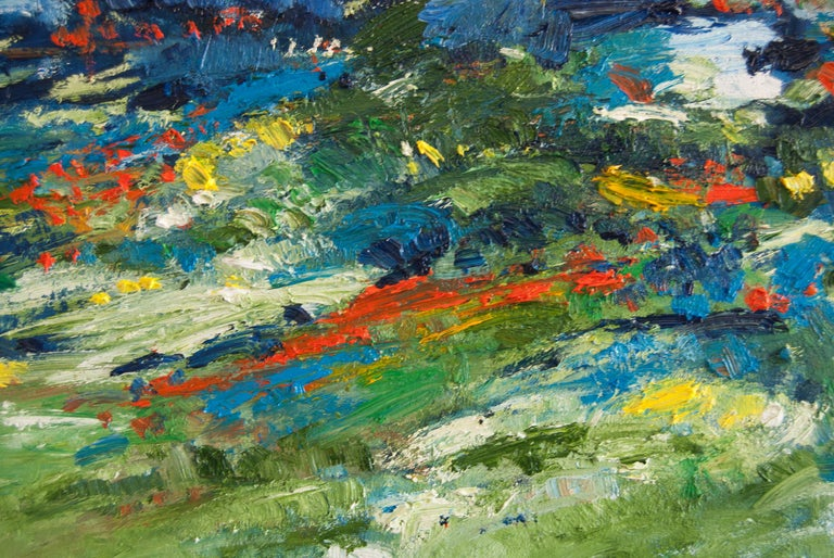 Summer Green, Abstract Oil Painting For Sale 1