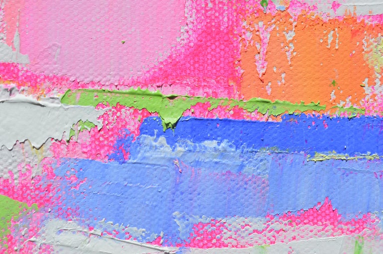 Pastel Dream Land, Abstract Oil Painting For Sale 1