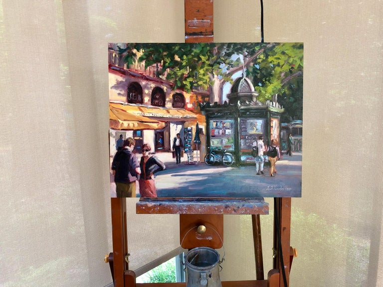 <p>Artist Comments<br />While visiting Paris a few years ago, Faye was inspired by the way the late afternoon sunlight cast its long shadows across this busy street corner.