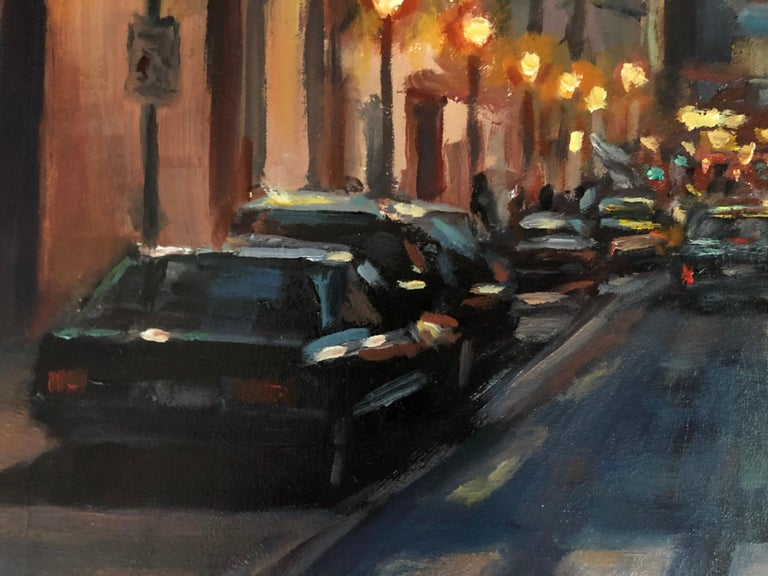 Night Walk, Oil Painting For Sale 1