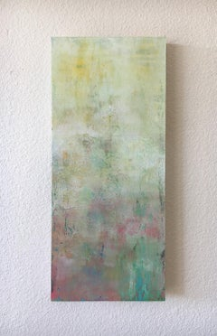 Floating on Spring's Soft Breath, Abstract Oil Painting