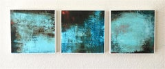 Three Views of the River, Abstract Oil Painting