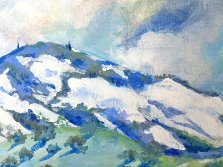 Snow Kissed Mt. Diablo, Original Painting For Sale 1