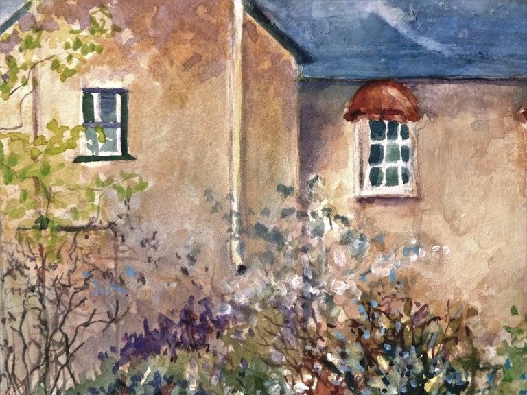 Secret Place, Original Painting - Gray Interior Art by Catherine McCargar