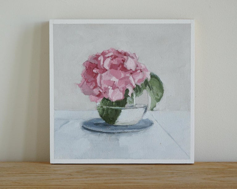 <p>Artist Comments<br>A cluster of pink hydrangeas arranged in a clear rounded vase in full bloom. Artist Nicole Lamothe painted this piece in alla-prima, opting to use this direct painting technique to capture the liveliness of the giant